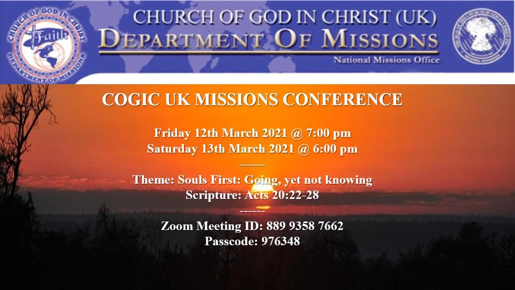 COGIC UK Missions Conference